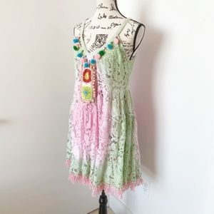 Antica Sartoria Swim - NWT Antica Sartotia Boho Lace Dress/Tunic/Coverup
